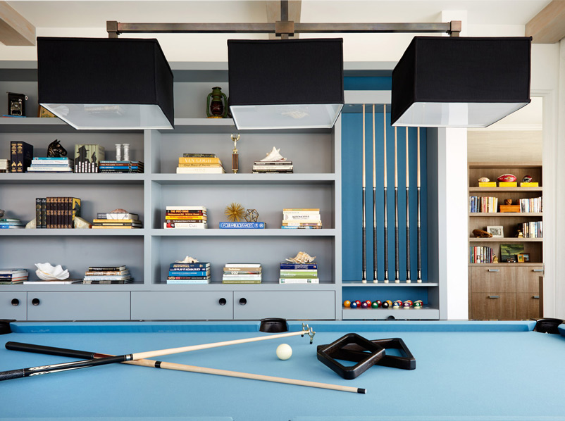 pool table game and play room by erin king interiors